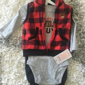3 piece baby boy outfit